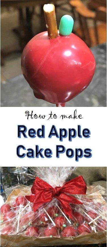Red Apple Cake Pops