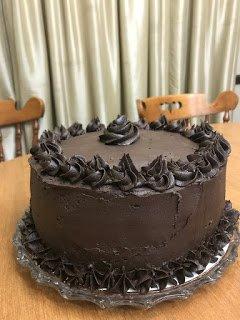 Dark Chocolate Tuxedo Cake for Birthday