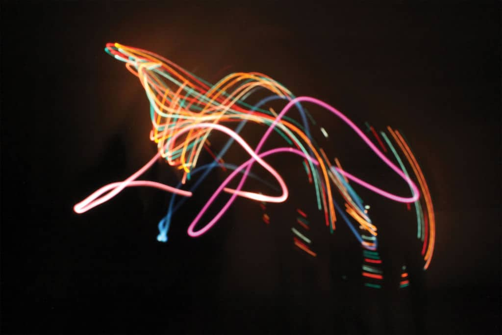 light painting abstract