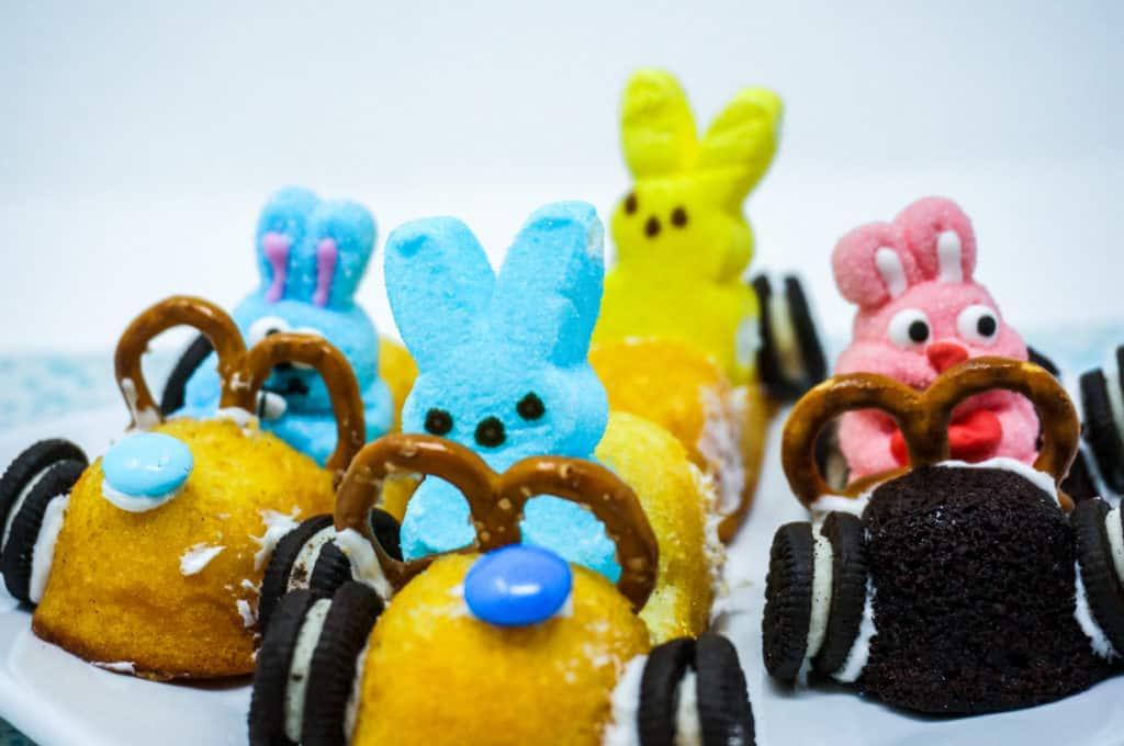 Easter Peeps Twinkie Race Cars