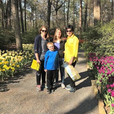 People in Tulip Garden