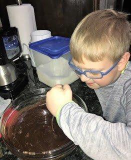 Stirring the bowl