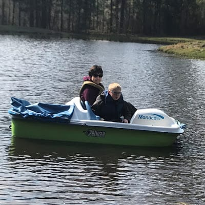 Pedal Boat with green bottom