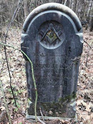 Gravestone in the Woods