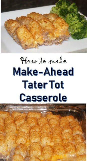 Make-Ahead Tater Tot Casserole Pin