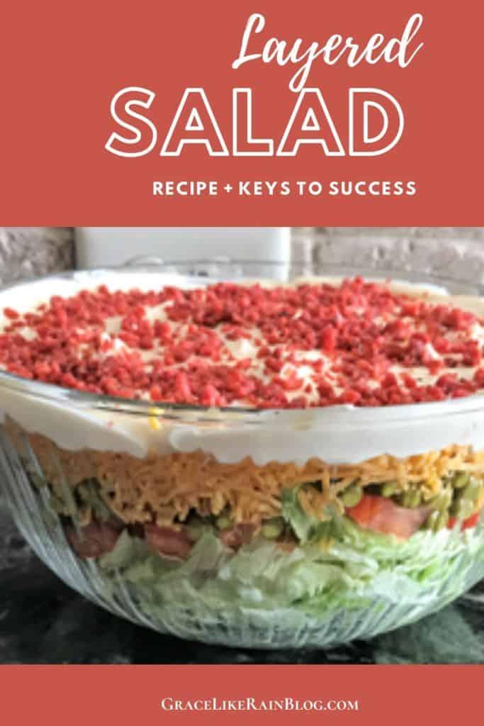 Layered Green Pea Salad