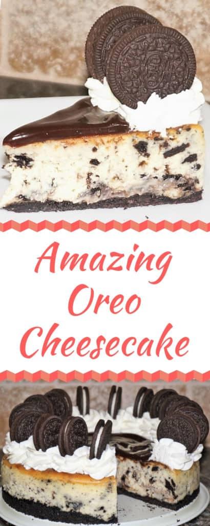 Amazing Oreo Cheesecake - Cookies 'n Cream