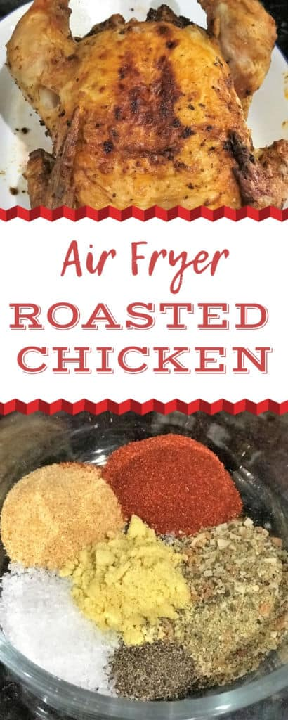 Air Fryer Roasted Whole Chicken