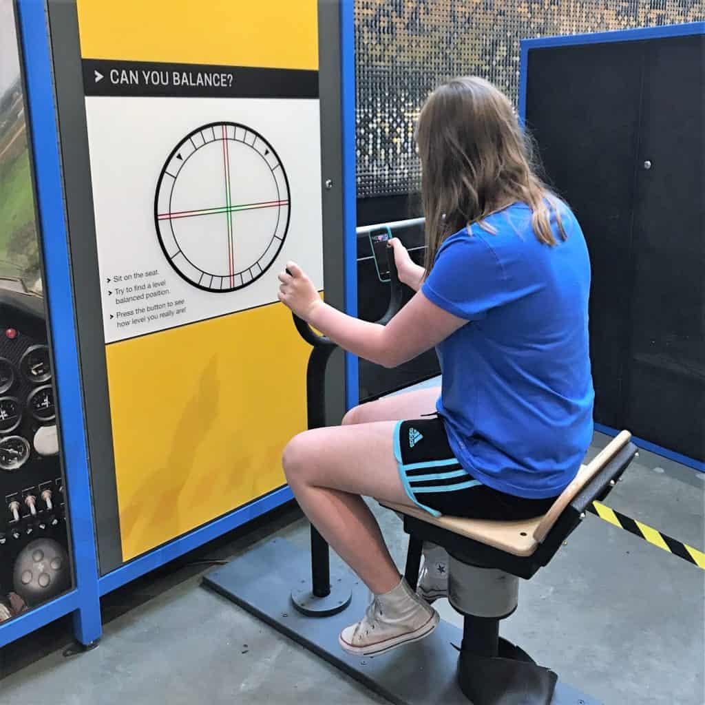 Balancing Chair at Exploration Place