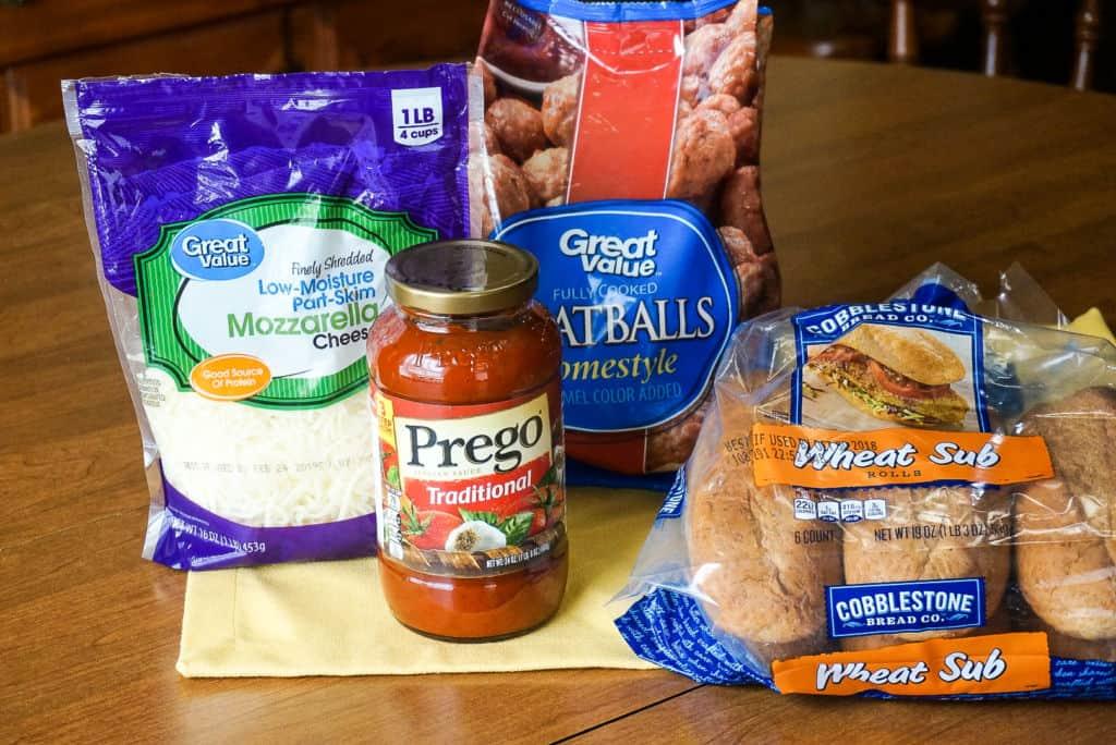 Meatball Sub Sandwich Ingredients