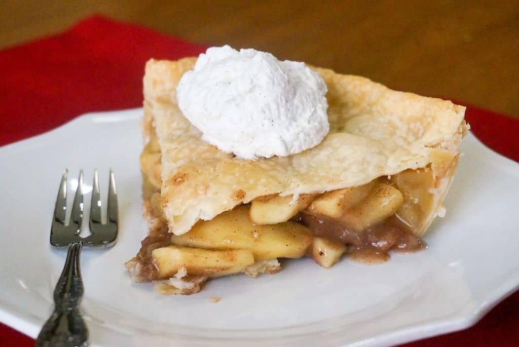 Apple Pie with Cinnamon Whipped Cream