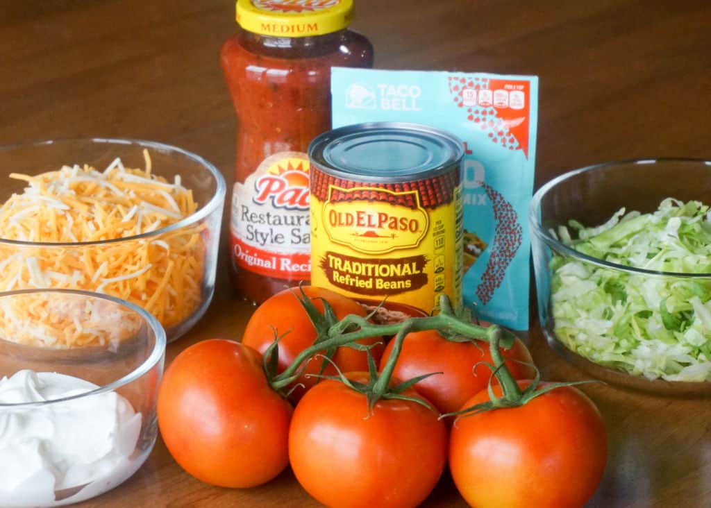 Ingredients for Mexican Layer Dip