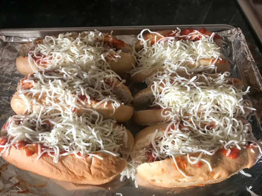 Cheesy Italian Meatball Subs