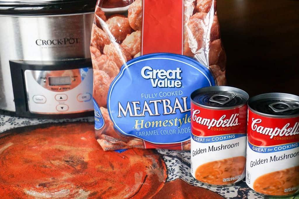 Ingredients for Mushroom Meatballs