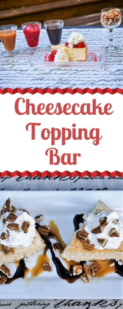 Cheesecake Topping Bar