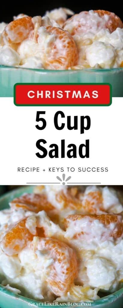 Christmas 5 Cup Salad