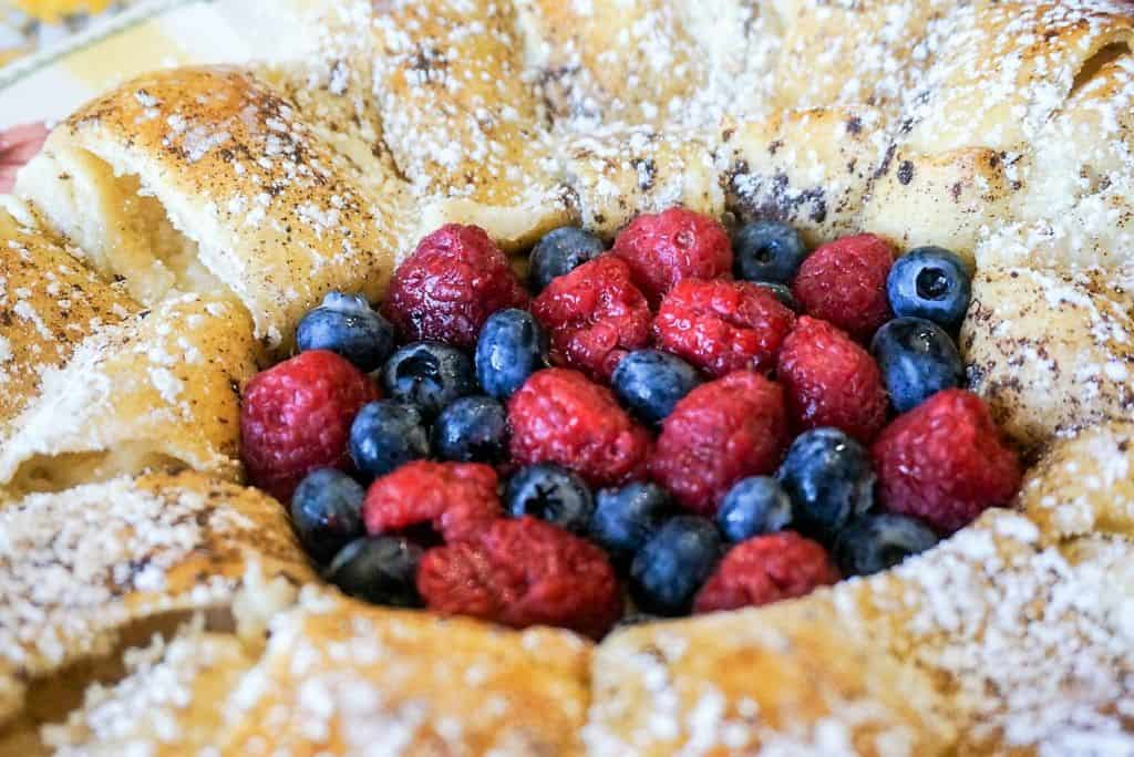 Stuffed French Toast Ring with Fresh Fruit