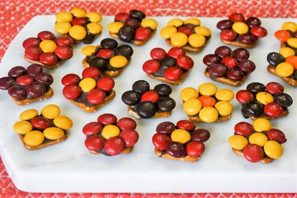 Fall Harvest Pretzel Flower Treats