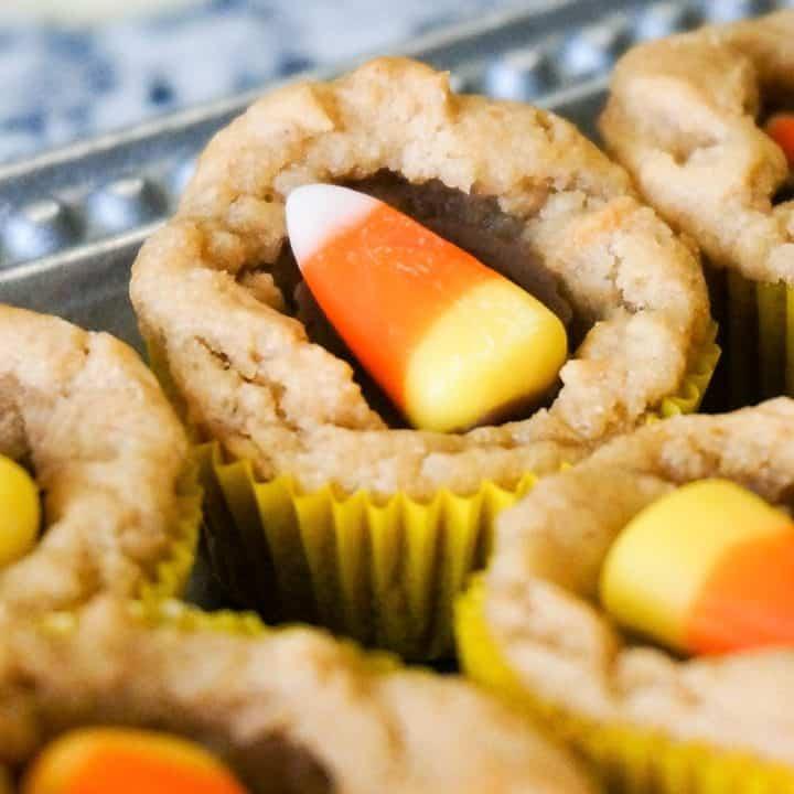 Halloween Peanut Butter Cup Cookies