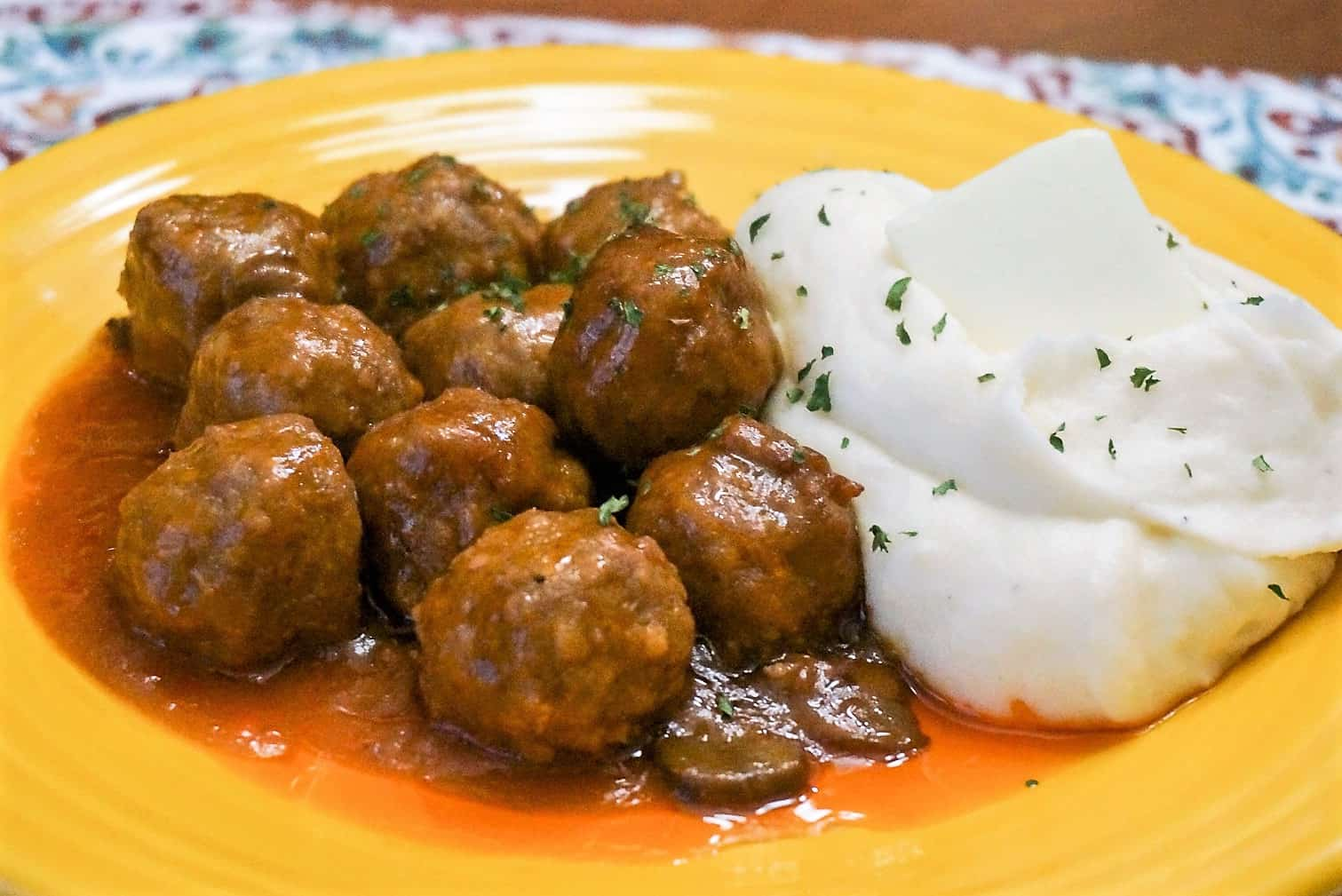 Slow Cooker Mushroom Meatballs