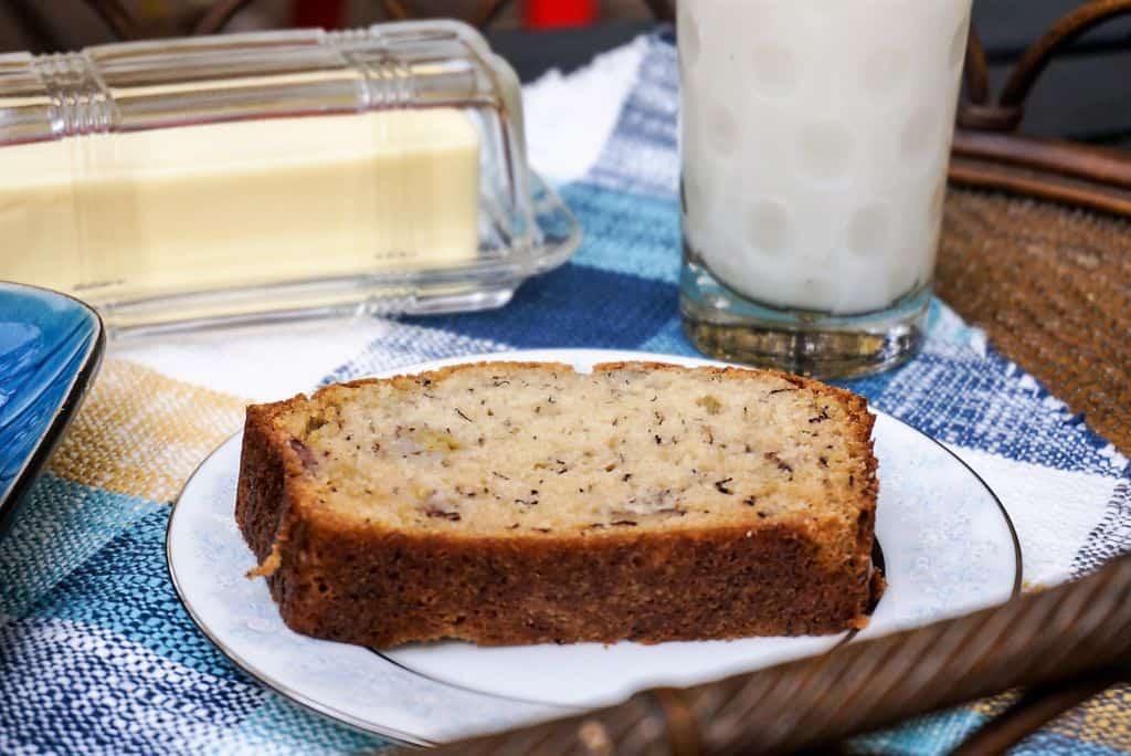 Slice of Banana Nut Bread