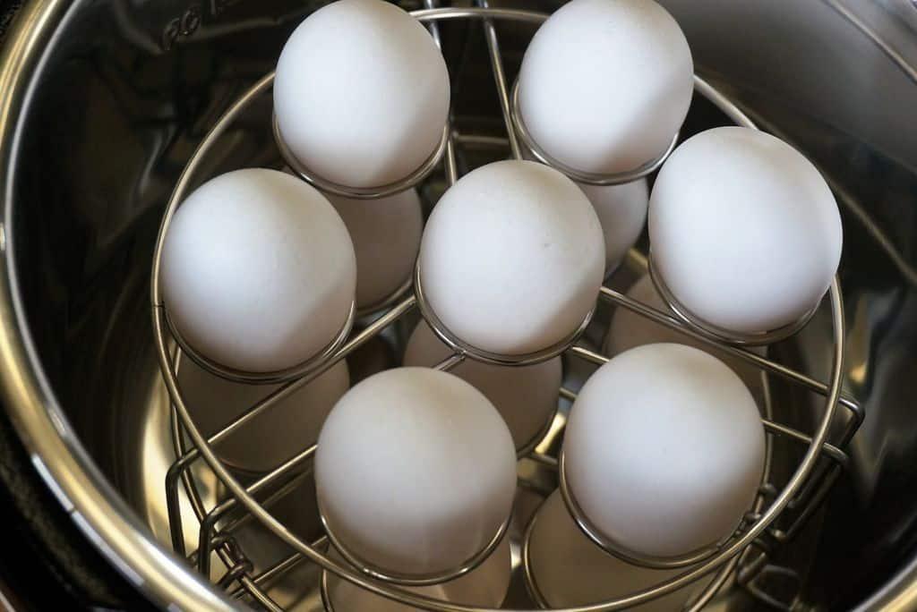 Eggs in Instant Pot Egg Rack