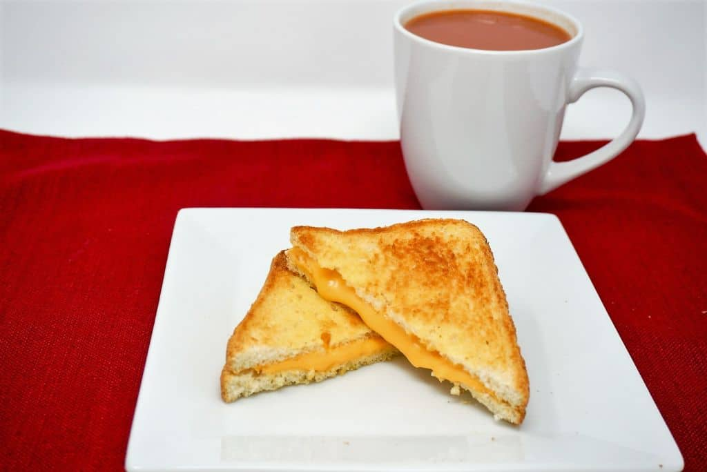 Air Fryer Grilled Cheese with Tomato Soup