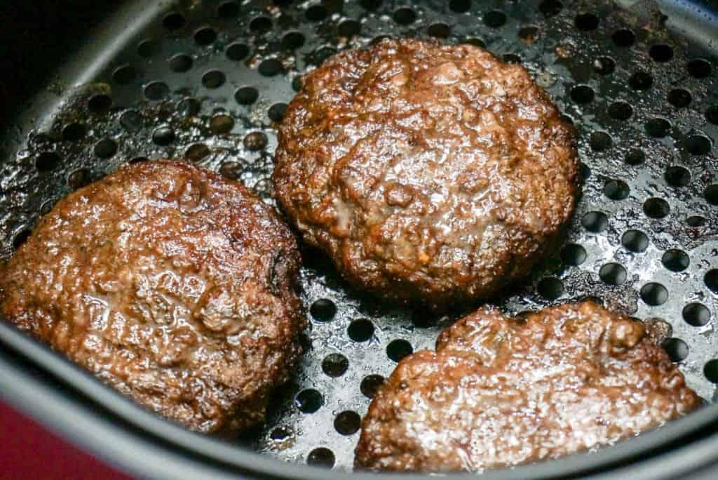 Hamburgers in Air Fryer