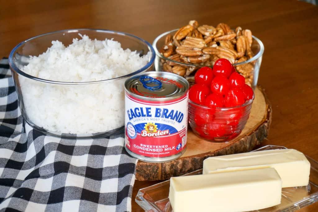 Ingredients for Martha Washington Candies