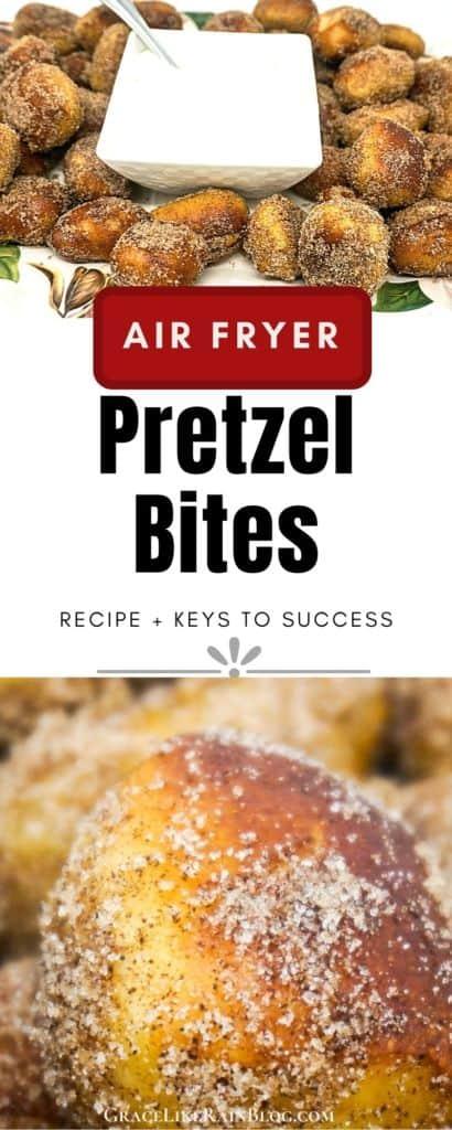Air Fryer Cinnamon Sugar Pretzel Bites
