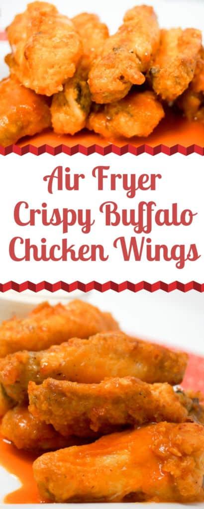 Air Fryer Crispy Buffalo Chicken Wings