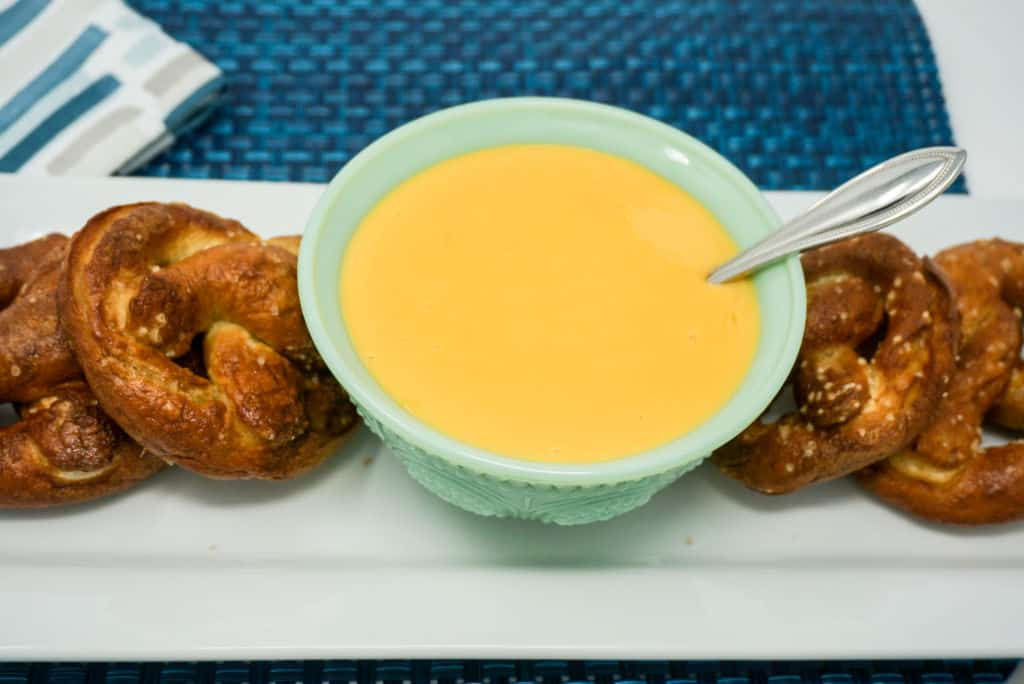 Air Fryer Soft Pretzels with Cheese Sauce