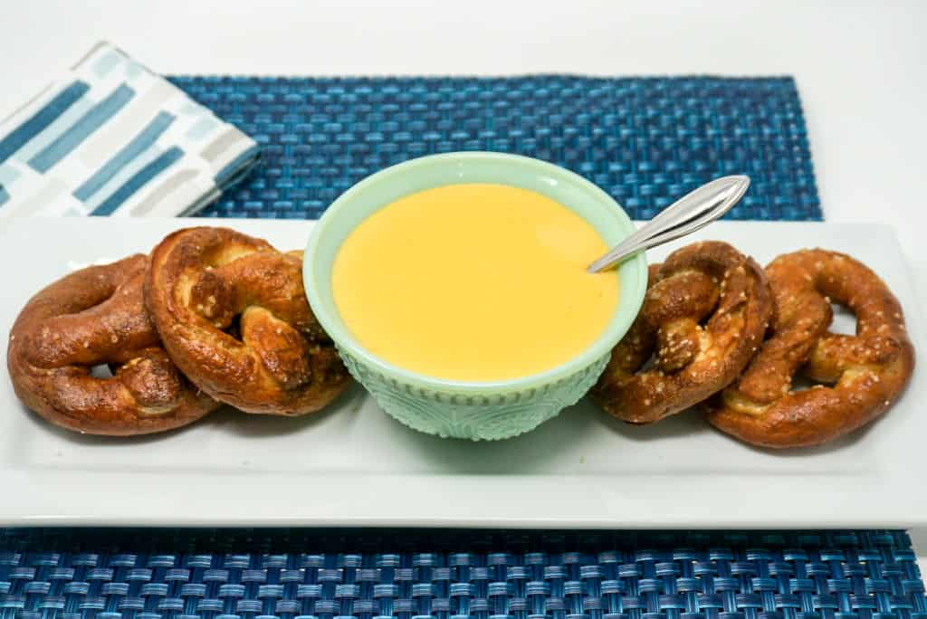 Air Fryer Pretzels with Cheese Sauce