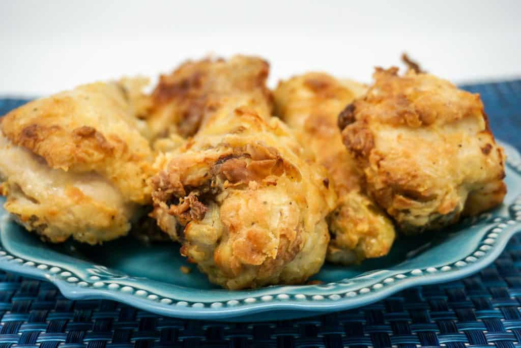 Plate of Air Fryer Chicken