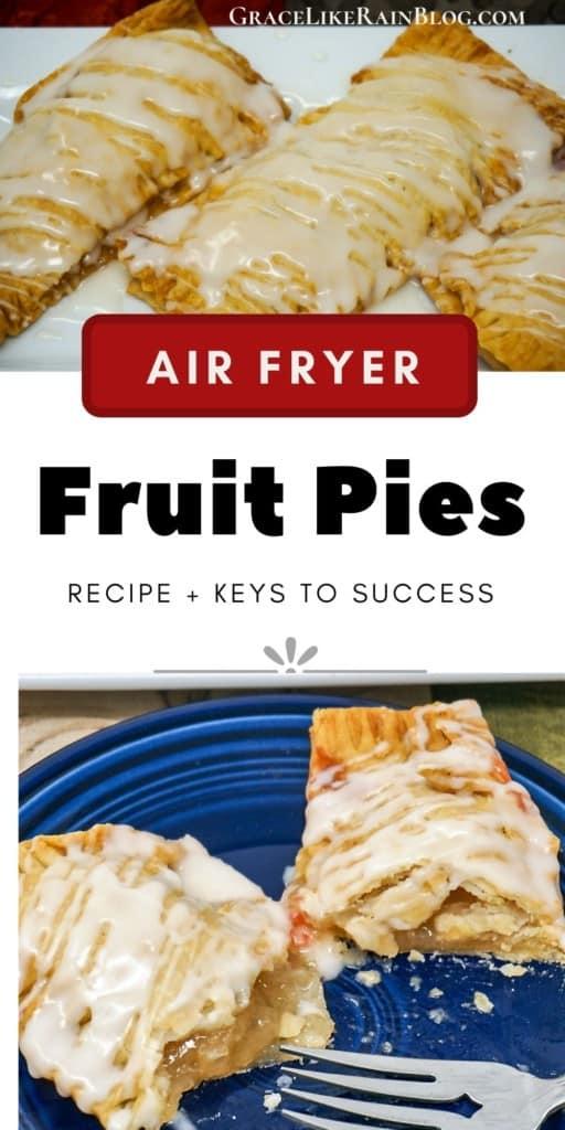 Air Fryer Desserts Fruit Pies Apple Peach Cherry