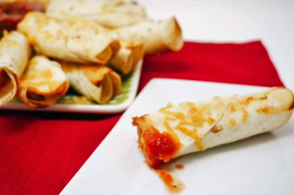 Cheesy Chicken Flautas