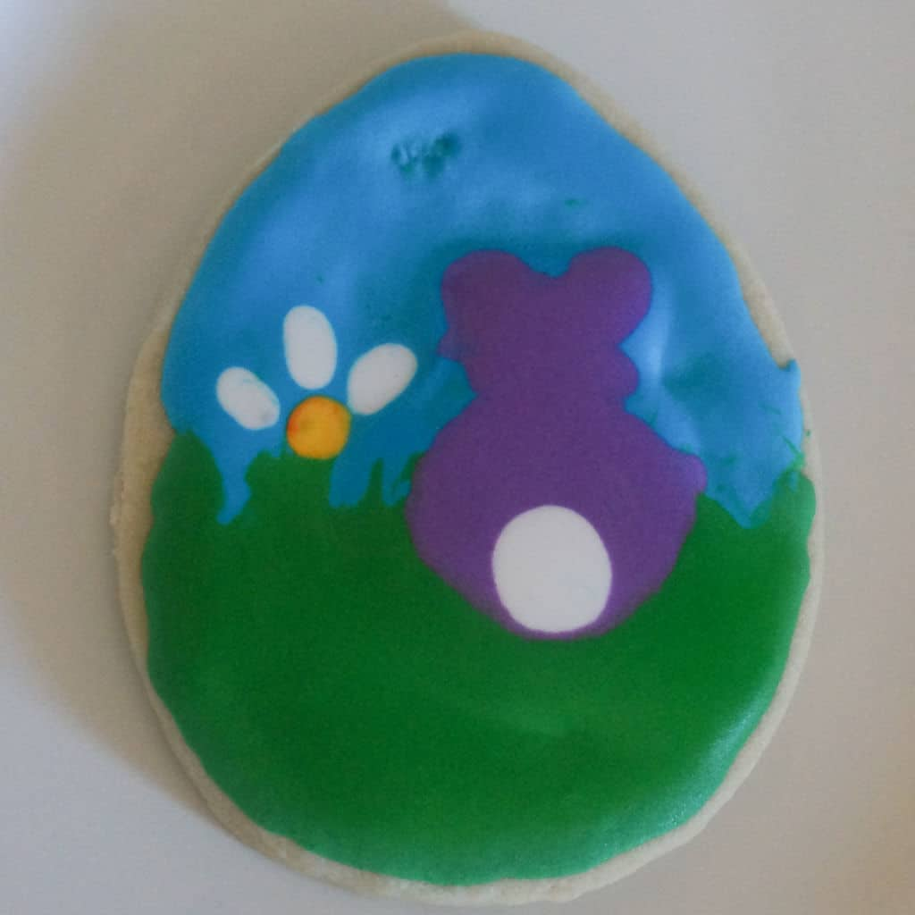 Bunny Silhouette Cookie from Cookie Decorating Party
