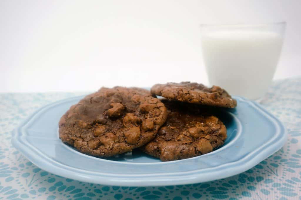 Double Chocolate Brownie Cookies