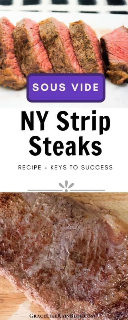 Sous Vide NY Strip Steak