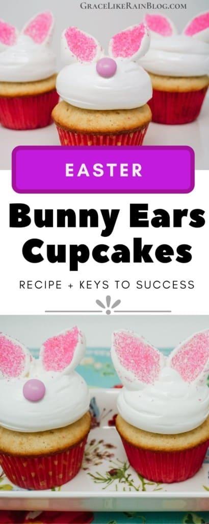 Easter Bunny Ears Cupcakes