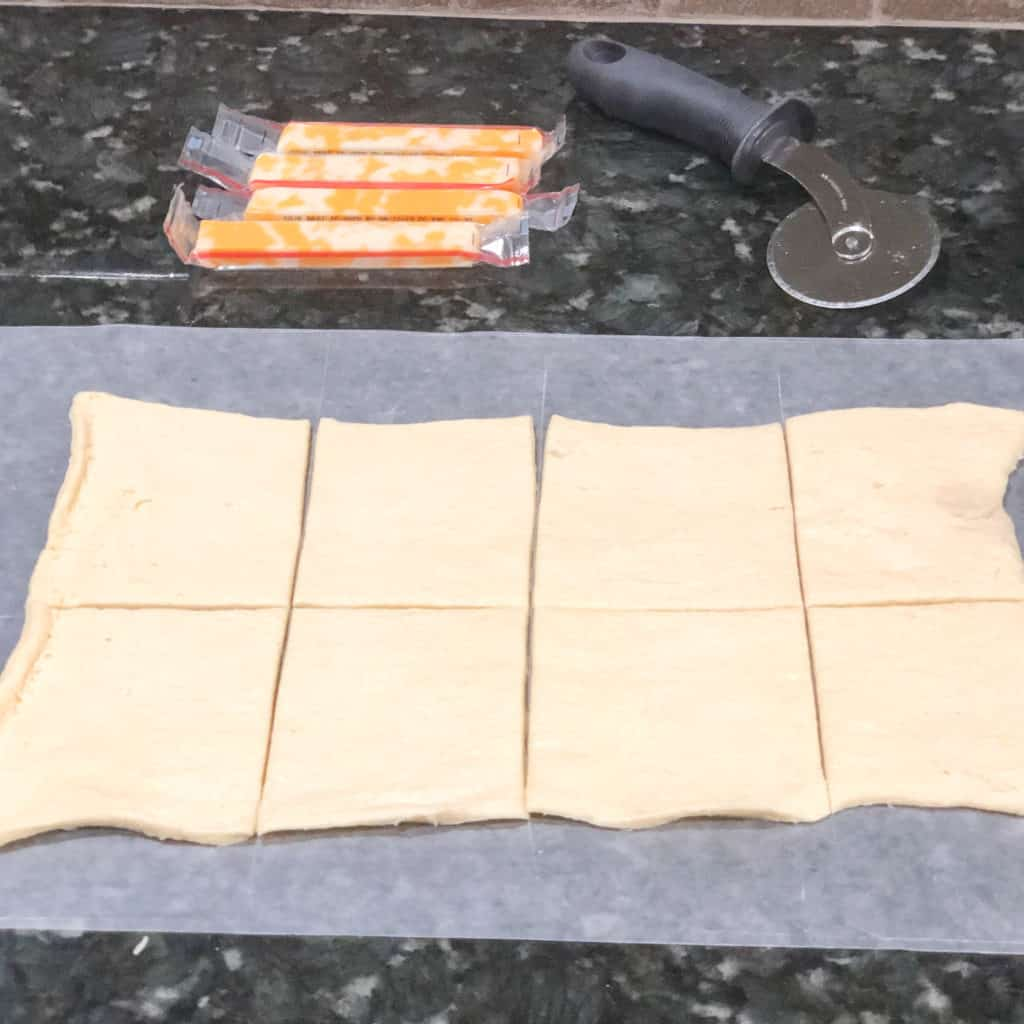 Ingredients for Air Fryer Cheesy Taco Crescents