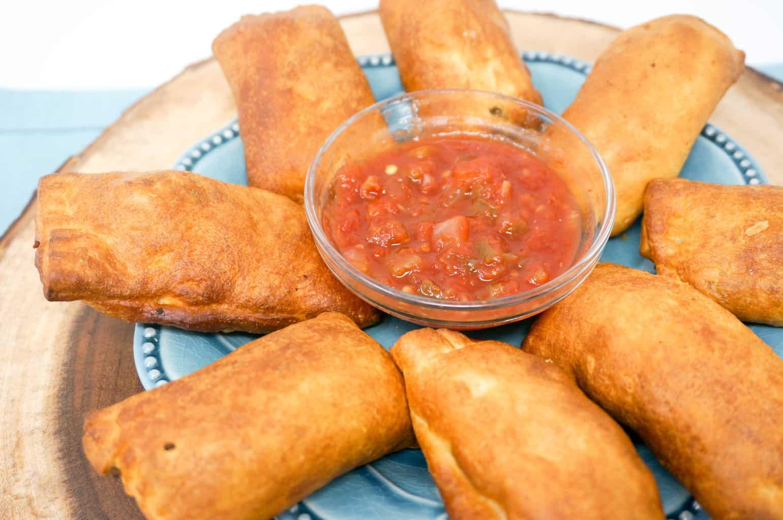 Air Fryer Cheesy Taco Crescents