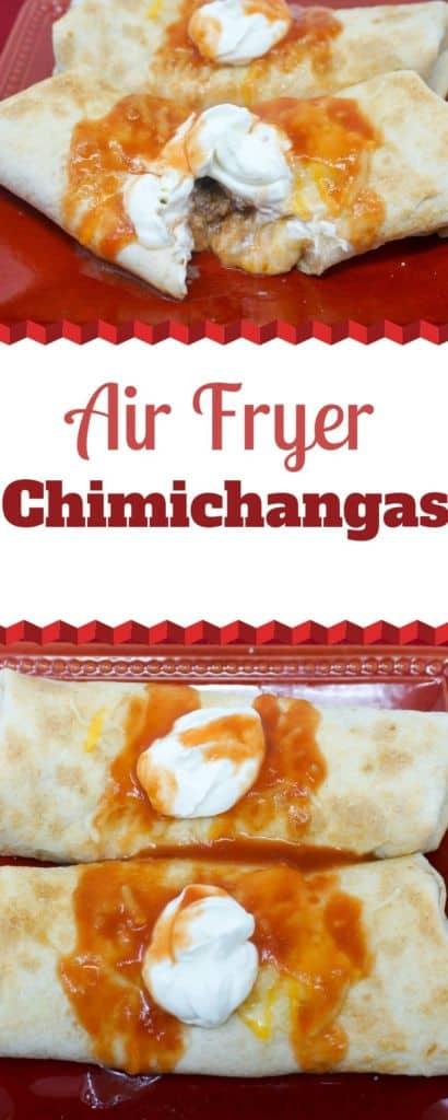Air Fryer Chimichangas