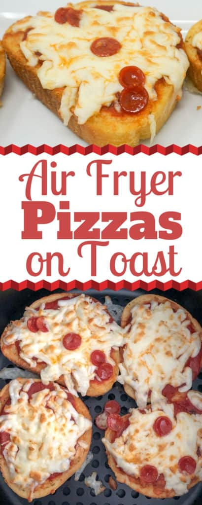 Air Fryer Pizzas on Toast