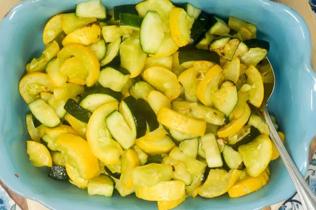 Air Fryer Zucchini and Yellow Squash