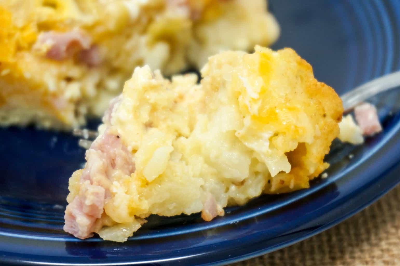 Ham and Cheese Breakfast Casserole