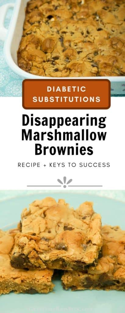 Disappearing Marshmallow Blondies with Diabetic Substitutions
