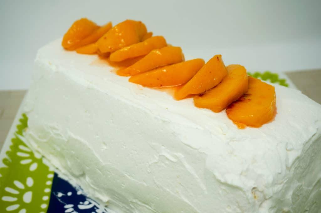 Peaches and Cream Icebox Cake