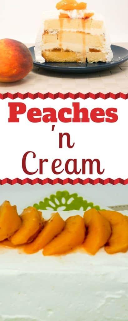 Peaches 'n Cream Ice Cream Cake
