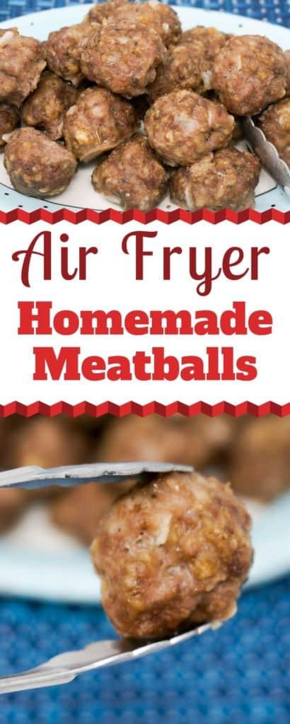Air Fryer Homemade Meatballs
